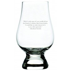 Abraham Lincoln Quote Glencairn Whisky Glass