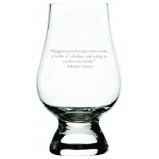 Johnny Carson Quote Glencairn Whisky Glass
