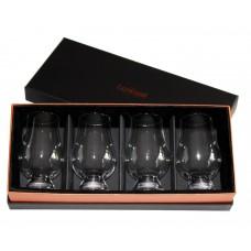Glencairn Whisky Glass Deluxe Velvet Gift Box w/ 4 Standard Glencairn Glasses