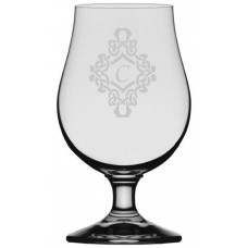 Decorated Monogrammed Glencairn Crystal Iona Beer Glass