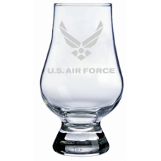 Air Force Military Themed Etched Glencairn Whisky Glass