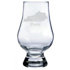 Personalized Kentucky Glencairn Whisky Glass
