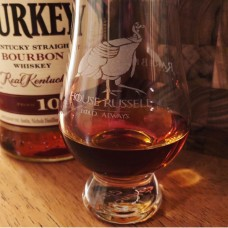 Rare Bird 101/House Russell Engraved Glencairn Whisky Glass