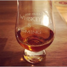 Rare Bird 101/Whiskey Is Coming Engraved Glencairn Whisky Glass